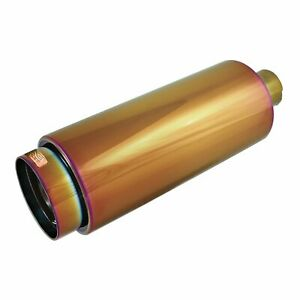 Dc Sports Round Chameleon Anodized Muffler Tip Inlet 2 25in Outlet 4in Ex5022