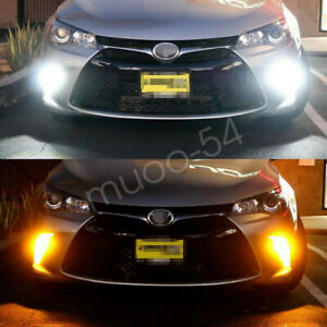 Switchback 7440 7443 Led Bulbs For 2015 2017 Toyota Camry Turn Signal Light Drl
