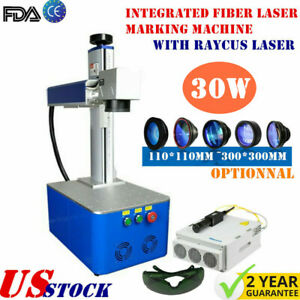 Usa 30w Integrated Fiber Laser Marking Machine With Raycus Laser Ce
