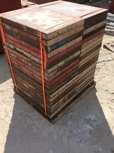 Symons Concrete Wall Forms Steel Ply Panels 40pcs 3 Ft X 2 Ft