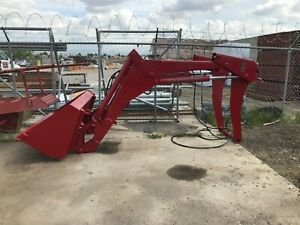 Front Loader Bucket Case International Refurbished Red And In Great Condition