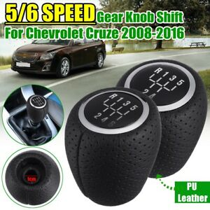 For Chevrolet Cruze 2008 2016 Gear Shift Knob Manual Head Pu Leather 5 6 Speed