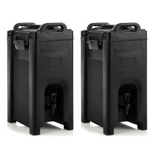 2 Pack Insulated Beverage Server dispenser 5 Gallon Hot Cold Drinks W Handles