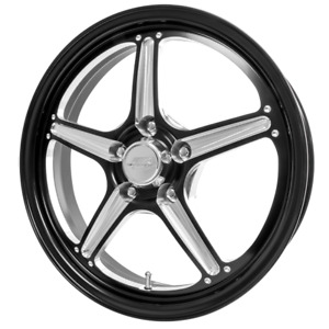 Billet Specialties Street Lite Black 17x4 5 Wheels 2 72bs 5x5 Bp New Pair