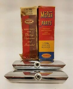 1950 Plymouth Parking Light Lens Retainer Nos Complete Set