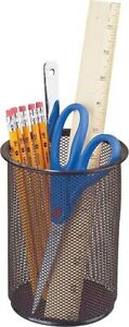 Staples Jumbo Mesh Pencil Cup Black 6 3 8 X 4 11958