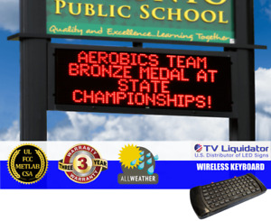 119 X 36 Outdoor Programmable Led Signs Ul Met Csa Fcc Tv Liquidator