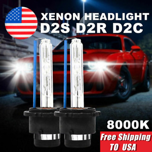 2x 8000k D2s D2r D2c Hid Xenon Bulbs Replacement For Phillips Osram Headlight Ki