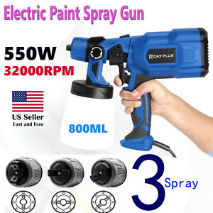 Pro Hvlp Spray Gun 110v 800ml Car Auto Paint Sprayers Fence Walls Window Ceiling
