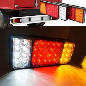 2pcs 13 8in 36led Trailer Truck Rv Rear Tail Light Stop Indicator Reverse Lamp