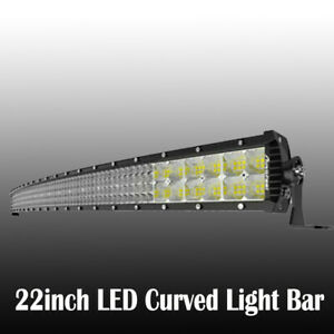 Curved 20 Inch 420w Led Work Light Bar Flood Spot Offroad Car Truck Driving Lamp