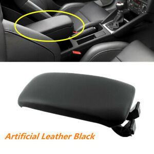 Fit For Audi A3 S3 2006 2014 Black Center Armrest Lid Artificial Leather Cover