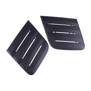 Bonnet Hood Vent Cover Louver Cooling Panel Trim Fit For 2018 19 Ford Mustang