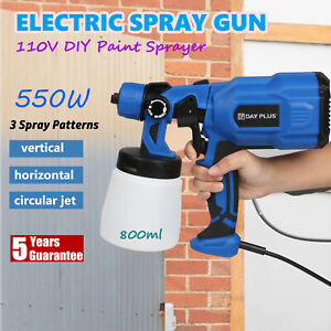 Paint Sprayer Spray Gun Airless Hvlp Electric 550w Car Spraygun Fence Wall Floor