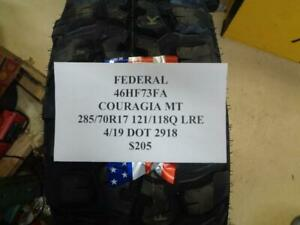 2 New Federal Couragia Mt 285 70 17 121 118q Lre Tires Wo Label 46hf73fa Q9