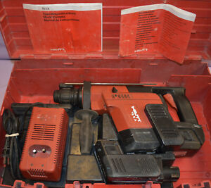 Hilti Te 5a 24 Volt Cordless Rotary Hammer Drill 2 Batteries Charger In Case