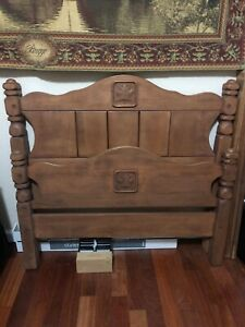1950 S Virginia House Maple Company Antique Vintage Twin Bed