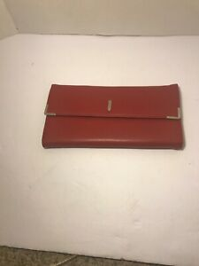New Rolodex Personal Business Card Case Holder 96 Card Capacity Red