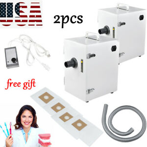 2xdental Lab Digital Single row Dust Collector Vacuum Cleaner 370w Tool gift Usa