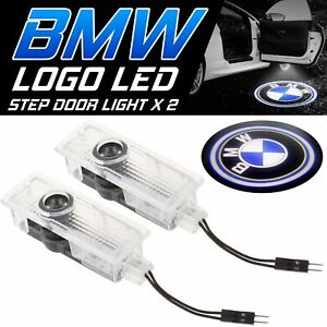 2 X Welcome Courtesy Door Light Led Projector Lamp Shadow Car Logo Fit For Bmw