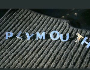 1950 Plymouth Hood Letters Mopar Good Used Condition Special Deluxe Car