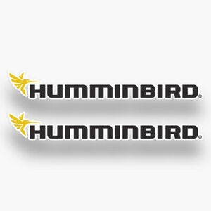 2x HUMMINBIRD Decals Vinyl Stickers Fishing Fish Finder GPS Bass Pike Equipment