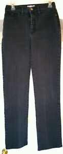 Lee Womens Classic Fit Straight Leg At The Waist Size 8 Med Black Wash Jeans