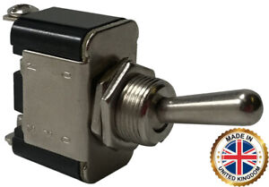2 Heavy Duty Momentary On Off Metal Toggle Switch 25 Amps 12 Volt Uk Made