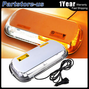 44 Led Emergency Flash Warning Roof Top Strobe Light Bar Amber White Car Truck