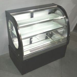 Commercial Curved Cake Showcase Glass Refrigerated Display Case 220v floor Model