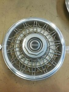 1982 1984 Ford Mustang Oem 14 Hubcap Wire Wheel Cover
