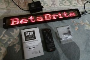 Betabrite 1036 Programmable Color Led Message Display Board Price Reduced