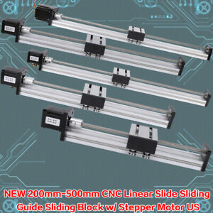 200 1000mm Linear Guide Slide Table Ballscrew Motion Rail Cnc42 57 Stepper Motor