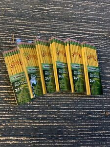 6 Pack 24 Count Boxes Dixon Ticonderoga 2 Hb Premium Wood Pencils 13924 Yellow