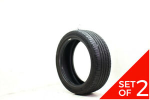 Set Of 2 Used 215 45r17 Dunlop Signature Hp 91w 7 5 8 32