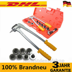Plumbing Pipe Expander Tool 7 Lever Hvac Hydraulic Copper Heads Tube Swaging Kit
