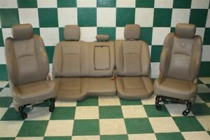 09 12 Ram 1500 Crew Tan Leather Heated Cooled Front Buckets Rear Bench Seats Oem