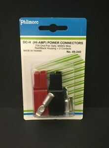 1x Philmore 49 340 Dc h Hi amp Power Connector Red And Black Housings Contacts