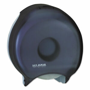 San Jamar Single 12 Jbt Bath Tissue Dispenser 1 Roll 12 9 10x5 5 8x14 7 8 Black