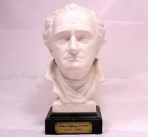 Bisque Porcelain Bust Statue German Author Johann Wolfgang Goethe 1749 1832