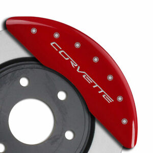 Mgp Caliper Covers Front Rear Z06 Engraving For 2006 2013 Chevy Corvette Red
