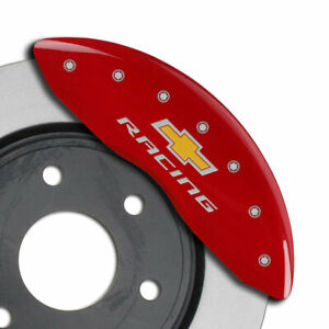 Mgp Caliper Covers 4 Pc Chevy Racing Engraved For 2010 2015 Chevy Camaro V6 Red