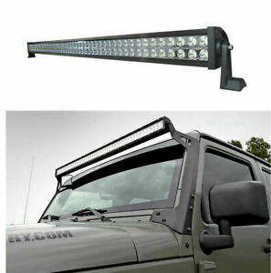 For Jeep Wrangler Jk 2007 2018 Hummer H3 H3t 2006 2010 52 Led Light Bar 1080w