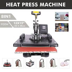 12x15 Swing Away Heat Press Clamshell Transfer Sublimation Machine 8 In 1