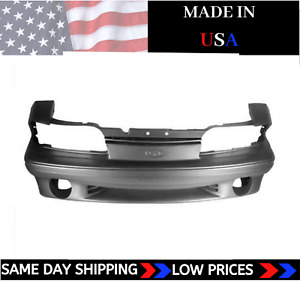 New Urethane Front Bumper Cover For 1987 1993 Ford Mustang Gt Primed Fo1000164