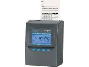 Lathem Time Punch Card Time Clock System Black 7500e