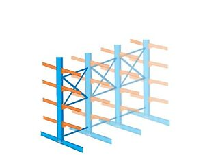 Interlake 12 Ft Double Tree Cantilever Rack 1 Section Wide