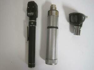 Welch Allyn Otoscope 25020a Ophthalmoscope 13010 Battery Powered W Carry Case