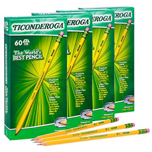 Ticonderoga Wood cased Graphite Pencils Number 2 Hb Soft Pre sharpened 240