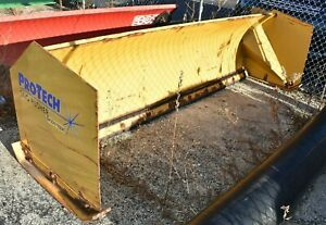 Protech Pro Tech 8ft Switch Blade Snow Pusher Skid Steer Attachment